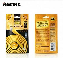 Кабель REMAX Full Speed Pro Data Cable 1M RC-090i for lightning (gold)